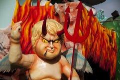 Karnevaljäkelmaskering 2014 Arkivbild