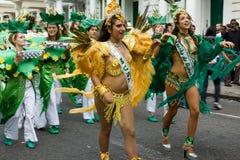 karnevalkull som 2008 notting arkivbilder