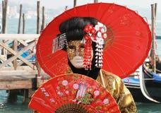 karnevalmaskering Arkivbild