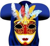 karnevalmaskering royaltyfri illustrationer