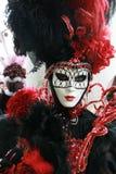 karnevalmaskering venice Arkivfoto