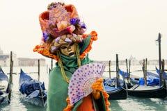 karnevalmaskering venice Royaltyfri Foto