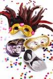 karnevalmaskeringar Arkivfoton