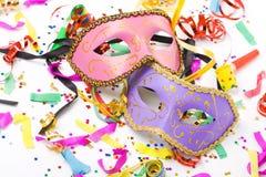 karnevalmaskeringar Arkivfoto