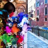 Karnevalmaskeringar i Venedig Royaltyfria Foton
