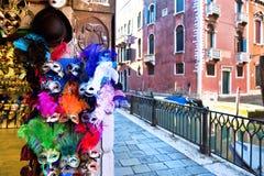Karnevalmaskeringar i Venedig Fotografering för Bildbyråer