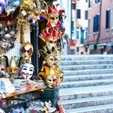 Karnevalmaskeringar i Venedig Arkivbilder