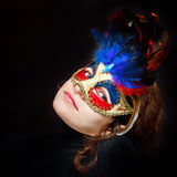 karnevalmaskeringskvinna Royaltyfri Bild