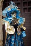 karnevalmaskeringskvinna Royaltyfri Foto
