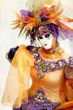 karnevalmaskeringsorange Royaltyfri Fotografi