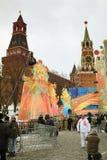 karnevalmaslenitsamoscow ryss 2011 Arkivbild