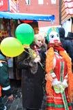 karnevalmaslenitsamoscow ryss 2011 Arkivfoto