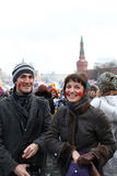 karnevalmaslenitsamoscow ryss 2011 Fotografering för Bildbyråer
