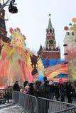 karnevalmaslenitsamoscow ryss 2011 Arkivbilder