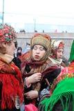 karnevalmaslenitsamoscow ryss 2011 Arkivfoton