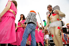 karnevalmoncalierien ståtar gatan turin Royaltyfria Bilder