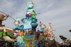 Karnevalnettunomaskering 2014 Arkivfoto