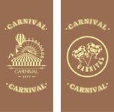 Karnevalreklamblad på en träbakgrund Royaltyfri Foto