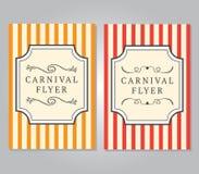 Karnevalreklambladmall vektor illustrationer