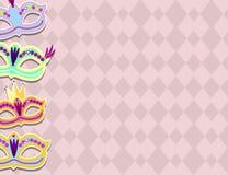 Karnevals-Fahne mit den flachen Aufkleber-Ikonen eingestellt Auch im corel abgehobenen Betrag Lokalisiert auf weißem Hintergrund Lizenzfreie Stockfotografie