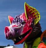 Karnevals-Hin- und Herbewegung Stockfoto