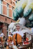 Karnevals-Ikonen: Aalsterse Gilles lizenzfreies stockbild