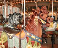 Karnevals-Karussell-Pferde Lizenzfreies Stockfoto