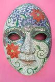 Karnevals-Maske auf der Wand bei Olinda, Pernambuco, Brasilien lizenzfreie stockfotos