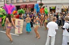 Karnevals-Parade in Warschau Lizenzfreies Stockbild