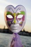 Karnevals-Schablone in Venezia Lizenzfreies Stockbild