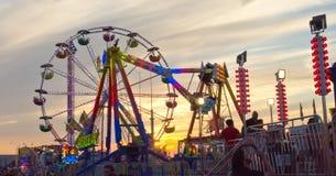 Karnevals-Sonnenuntergang Stockfotos