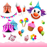 Karnevals-u. Funfair-Elemente Lizenzfreie Stockbilder