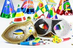 Karnevals- und Partymotiv Lizenzfreie Stockbilder