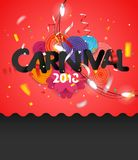 Karnevalseinladungs-Vektorkarte Stockbild