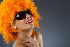 Karnevalsfrau Stockfoto