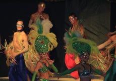 karnevalshowvariation Arkivfoto