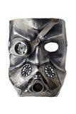 Karnevalsjägersmaske an Dieselpunk-Art, lokalisiert auf weißem Hintergrund stockfotos