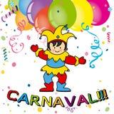Karnevalskarte Lizenzfreies Stockfoto