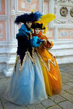 Karnevalskostüm in Venedig. Lizenzfreies Stockbild