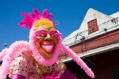 Karnevalsmarionette im Rosa Stockbild