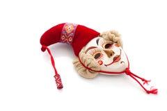 Karnevalsmaske des traditionellen russischen Heldes Stockbilder