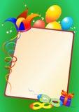 Karnevalsmaske und -grenze mit Ballonen Lizenzfreie Stockfotografie