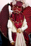 Karnevalsmaske in Venedig, Italien stockfoto