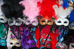 Karnevalsmasken stockbild