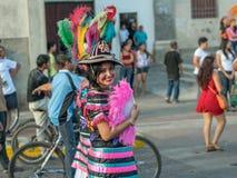 Karnevalsparade in Granada Stockbild