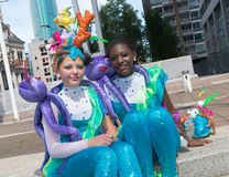 Karnevalsparade in Rotterdam Stockfotos
