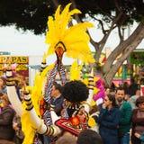 Karnevalsparade SANTA CRUZ, SPANIEN Lizenzfreies Stockbild