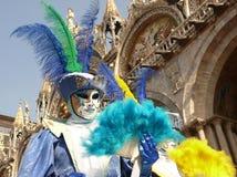 Karnevalsschablone in Venedig Stockfotografie