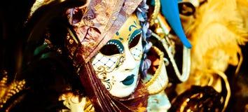 Karnevalsschablone in Venedig stockbild