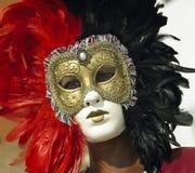 Karnevalsschablone - Venedig-Karneval - Italien Stockbild